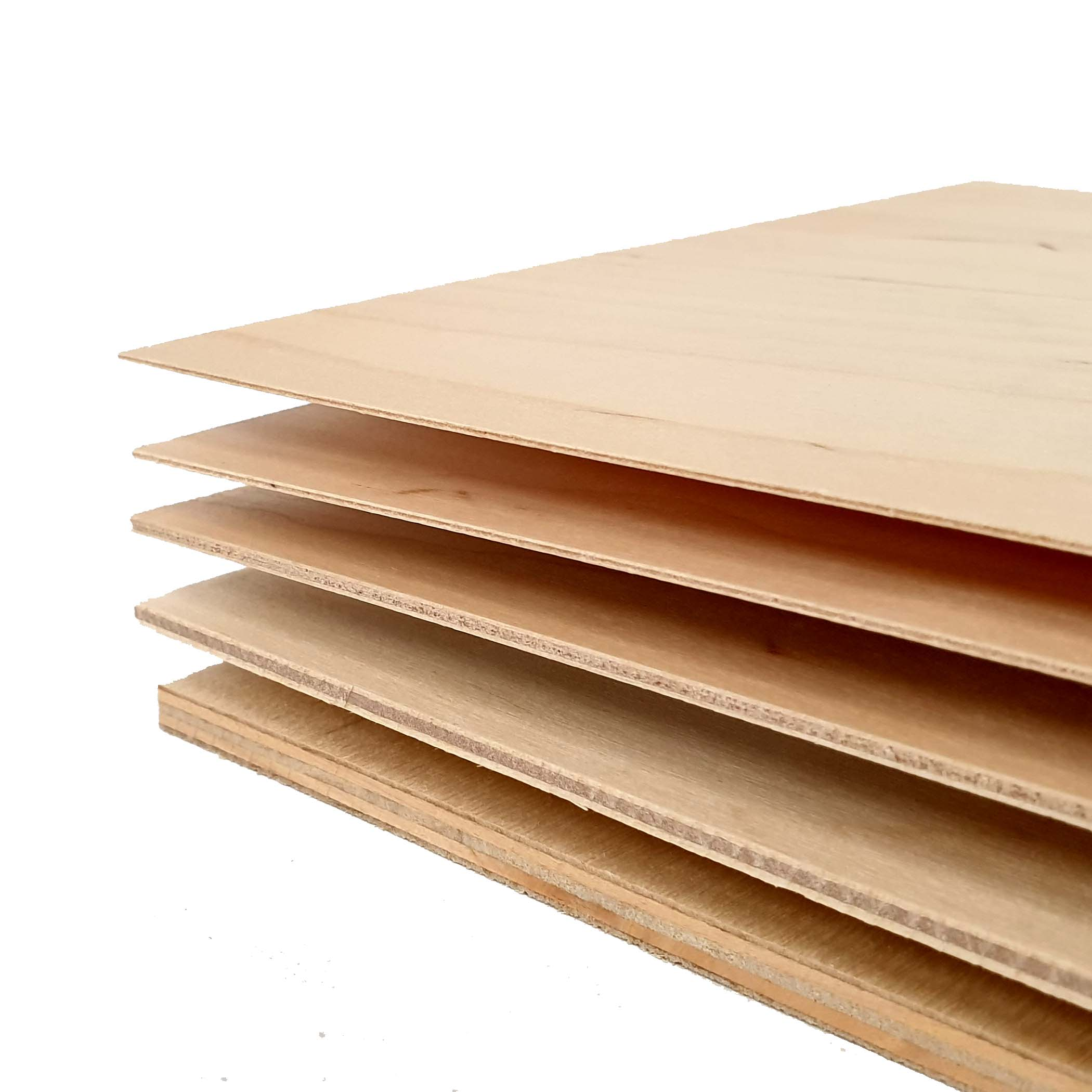 50 x A4 Birch Plywood Sheets Laser Safe Crafts Models Pyrography 4mm